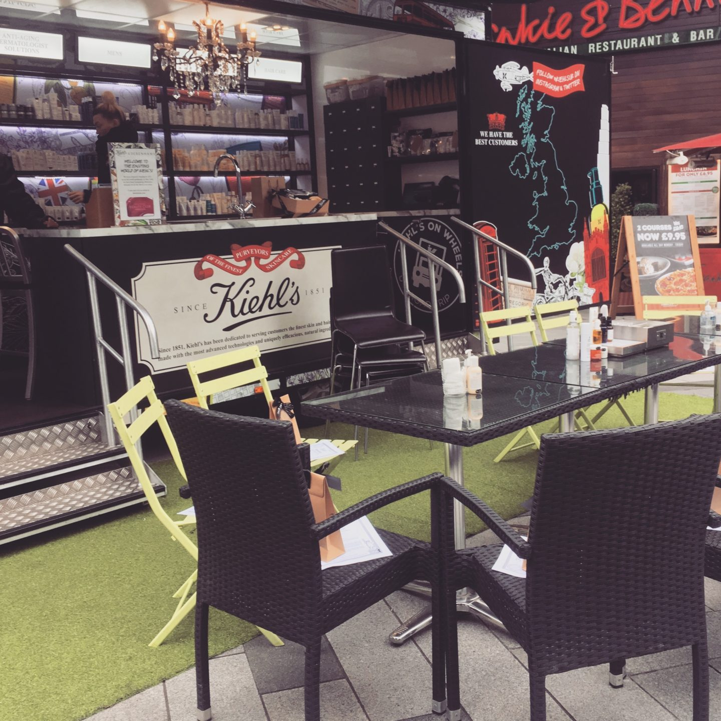 Kiehl's On Wheels Blogger Event Leicester