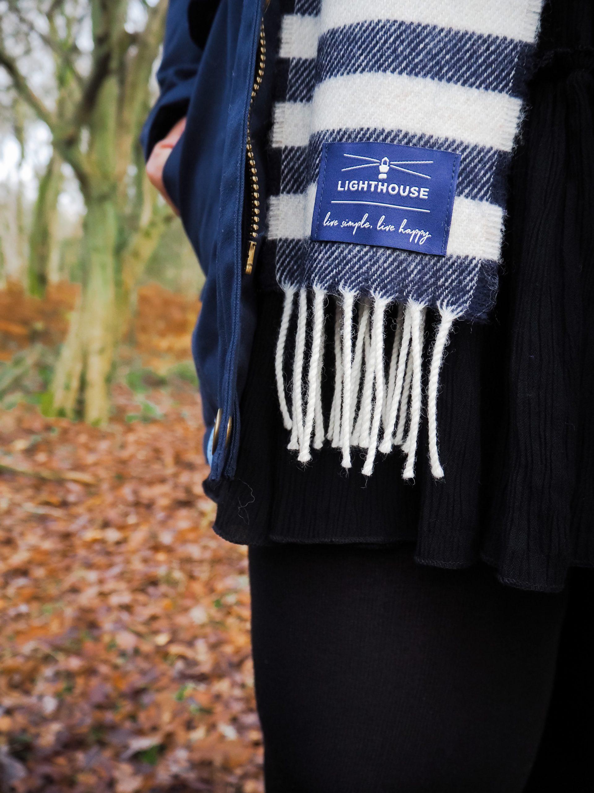 Little Blonde Blog x in Ashridge Forest in Merino Scarf