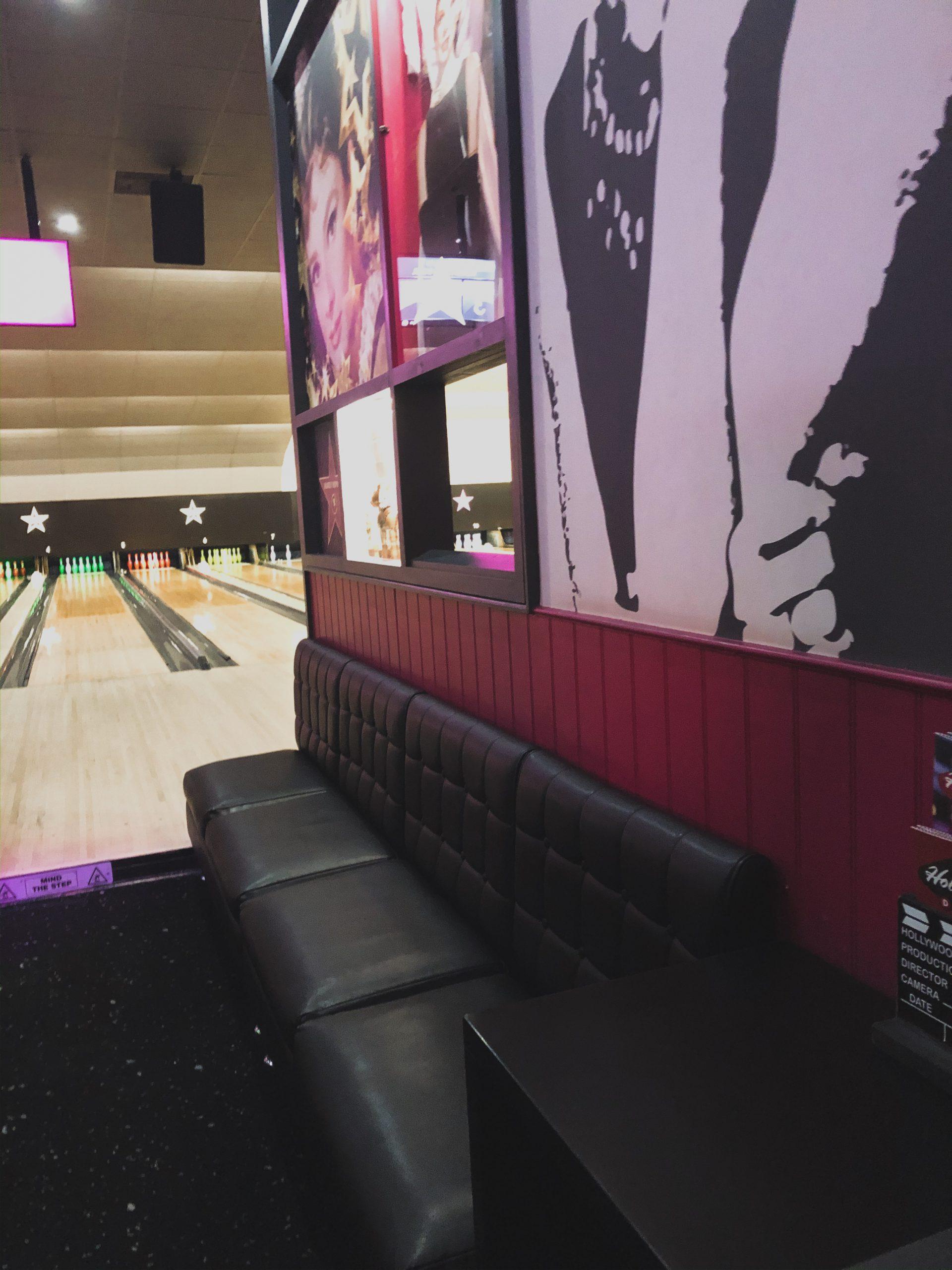 Sating area VIP lanes Hollywood bowl Merdian.