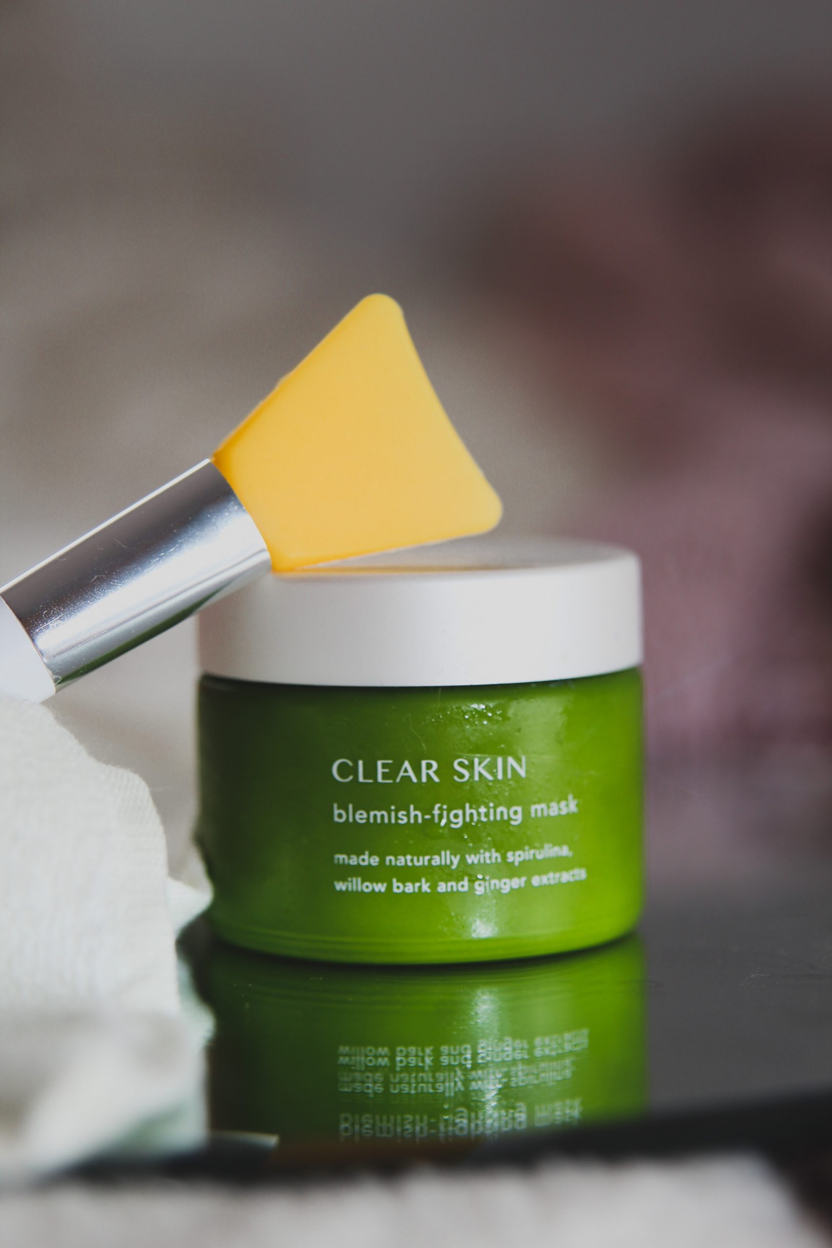 Clear skin blemish fighting mask