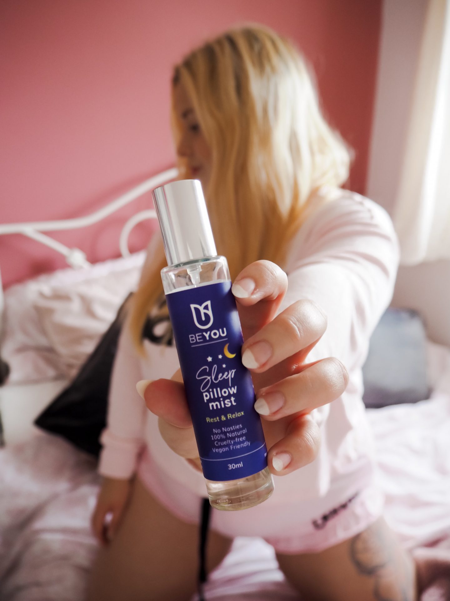 BeYou Sleep Pillow Mist and Little Blonde Blog x